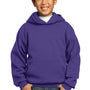 Port & Company Youth Core Fleece Hooded Sweatshirt Hoodie - Team Purple