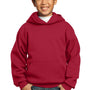 Port & Company Youth Core Fleece Hooded Sweatshirt Hoodie - Red