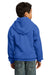 Port & Company PC90YH Youth Core Fleece Hooded Sweatshirt Hoodie Royal Blue Back