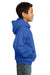 Port & Company PC90YH Youth Core Fleece Hooded Sweatshirt Hoodie Royal Blue Side