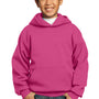Port & Company Youth Core Fleece Hooded Sweatshirt Hoodie - Sangria Pink