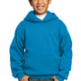 Port & Company Youth Core Fleece Hooded Sweatshirt Hoodie - Sapphire Blue