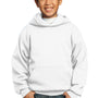 Port & Company Youth Core Fleece Hooded Sweatshirt Hoodie - White