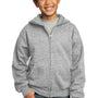 Port & Company Youth Core Fleece Full Zip Hooded Sweatshirt Hoodie - Ash Grey