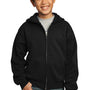 Port & Company Youth Core Fleece Full Zip Hooded Sweatshirt Hoodie - Jet Back