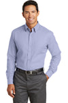 Red House RH76 Mens Wrinkle Resistant Long Sleeve Button Down Shirt w/ Pocket Blue Front
