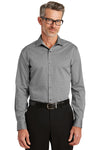 Red House RH81 Mens Wrinkle Resistant Long Sleeve Button Down Shirt Dark Grey Front