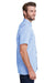 Artisan Collection RP221 Mens Microcheck Gingham Short Sleeve Button Down Shirt Light Blue/White Side