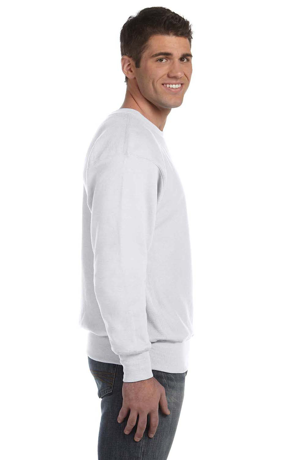 Champion S1049 Mens Crewneck Sweatshirt Silver Grey Side