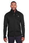 Spyder S16539 Mens Venom Full Zip Jacket Black Front