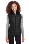 Spyder S16641 Womens Supreme Full Zip Hooded Puffer Vest Black Front