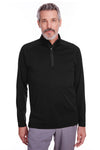 Spyder S16797 Mens Freestyle 1/4 Zip Sweatshirt Black Front