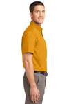 Port Authority S508 Mens Easy Care Wrinkle Resistant Short Sleeve Button Down Shirt w/ Pocket Gold Side