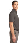 Port Authority S508 Mens Easy Care Wrinkle Resistant Short Sleeve Button Down Shirt w/ Pocket Bark Brown Side