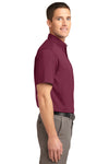 Port Authority S508 Mens Easy Care Wrinkle Resistant Short Sleeve Button Down Shirt w/ Pocket Burgundy Side
