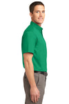 Port Authority S508 Mens Easy Care Wrinkle Resistant Short Sleeve Button Down Shirt w/ Pocket Court Green Side