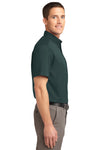 Port Authority S508 Mens Easy Care Wrinkle Resistant Short Sleeve Button Down Shirt w/ Pocket Dark Green Side