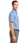 Port Authority S508 Mens Easy Care Wrinkle Resistant Short Sleeve Button Down Shirt w/ Pocket Light Blue Side