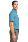 Port Authority S508 Mens Easy Care Wrinkle Resistant Short Sleeve Button Down Shirt w/ Pocket Maui Blue Side