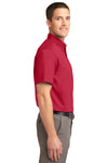 Port Authority S508 Mens Easy Care Wrinkle Resistant Short Sleeve Button Down Shirt w/ Pocket Red Side