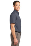 Port Authority S508 Mens Easy Care Wrinkle Resistant Short Sleeve Button Down Shirt w/ Pocket Steel Grey Side