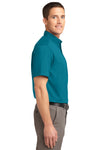 Port Authority S508 Mens Easy Care Wrinkle Resistant Short Sleeve Button Down Shirt w/ Pocket Teal Green Side