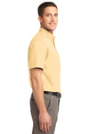 Port Authority S508 Mens Easy Care Wrinkle Resistant Short Sleeve Button Down Shirt w/ Pocket Yellow Side