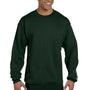 Champion Mens Double Dry Eco Moisture Wicking Fleece Crewneck Sweatshirt - Dark Green