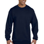 Champion Mens Double Dry Eco Moisture Wicking Fleece Crewneck Sweatshirt - Navy Blue