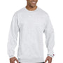 Champion Mens Double Dry Eco Moisture Wicking Fleece Crewneck Sweatshirt - Silver Grey