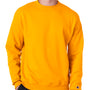 Champion Mens Double Dry Eco Moisture Wicking Fleece Crewneck Sweatshirt - Gold