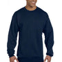 Champion Mens Double Dry Eco Moisture Wicking Fleece Crewneck Sweatshirt - Heather Navy Blue