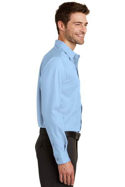 Port Authority S638 Mens Wrinkle Resistant Long Sleeve Button Down Shirt w/ Pocket Sky Blue Side