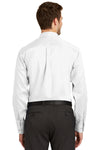 Port Authority S638 Mens Wrinkle Resistant Long Sleeve Button Down Shirt w/ Pocket White Back