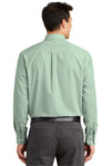 Port Authority S639 Mens Easy Care Wrinkle Resistant Long Sleeve Button Down Shirt w/ Pocket Green Back