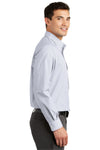 Port Authority S639 Mens Easy Care Wrinkle Resistant Long Sleeve Button Down Shirt w/ Pocket White Side
