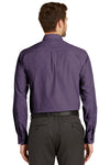 Port Authority S640 Mens Easy Care Wrinkle Resistant Long Sleeve Button Down Shirt w/ Pocket Grape Purple Back