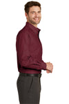 Port Authority S640 Mens Easy Care Wrinkle Resistant Long Sleeve Button Down Shirt w/ Pocket Red Oxide Side