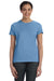 Hanes SL04 Womens Nano-T Short Sleeve Crewneck T-Shirt Carolina Blue Front