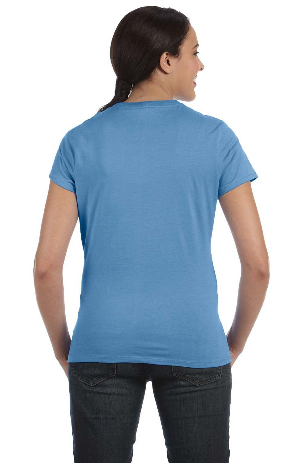 Hanes SL04 Womens Nano-T Short Sleeve Crewneck T-Shirt Carolina Blue Back