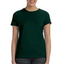Hanes Womens Nano-T Short Sleeve Crewneck T-Shirt - Deep Forest Green