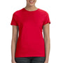 Hanes Womens Nano-T Short Sleeve Crewneck T-Shirt - Deep Red