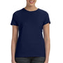 Hanes Womens Nano-T Short Sleeve Crewneck T-Shirt - Navy Blue
