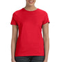 Hanes Womens Nano-T Short Sleeve Crewneck T-Shirt - Athletic Red