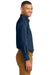 Port & Company SP10 Mens Denim Long Sleeve Button Down Shirt w/ Pocket Ink Blue Side