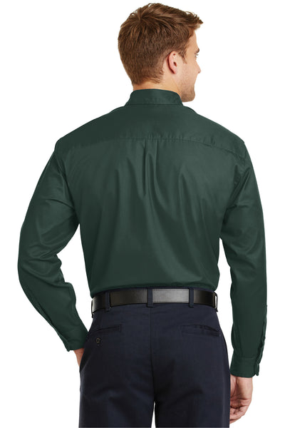 CornerStone SP17 Mens SuperPro Stain Resistant Long Sleeve Button Down Shirt w/ Pocket Dark Green Back