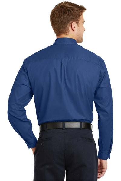 CornerStone SP17 Mens SuperPro Stain Resistant Long Sleeve Button Down Shirt w/ Pocket Royal Blue Back