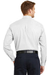 CornerStone SP17 Mens SuperPro Stain Resistant Long Sleeve Button Down Shirt w/ Pocket White Back