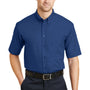 CornerStone Mens SuperPro Stain Resistant Short Sleeve Button Down Shirt w/ Pocket - Royal Blue