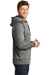 Sport-Tek ST225 Mens Electric Heather Moisture Wicking Fleece Hooded Sweatshirt Hoodie Black Side